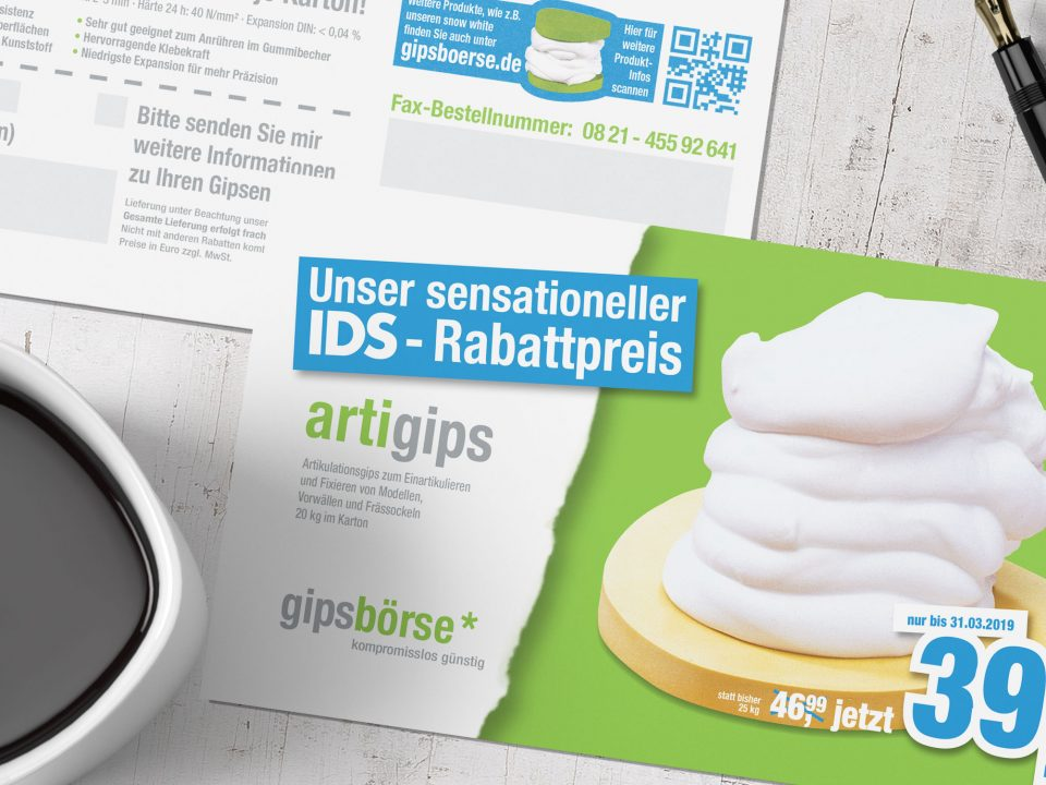 gipsbörse – direct mail