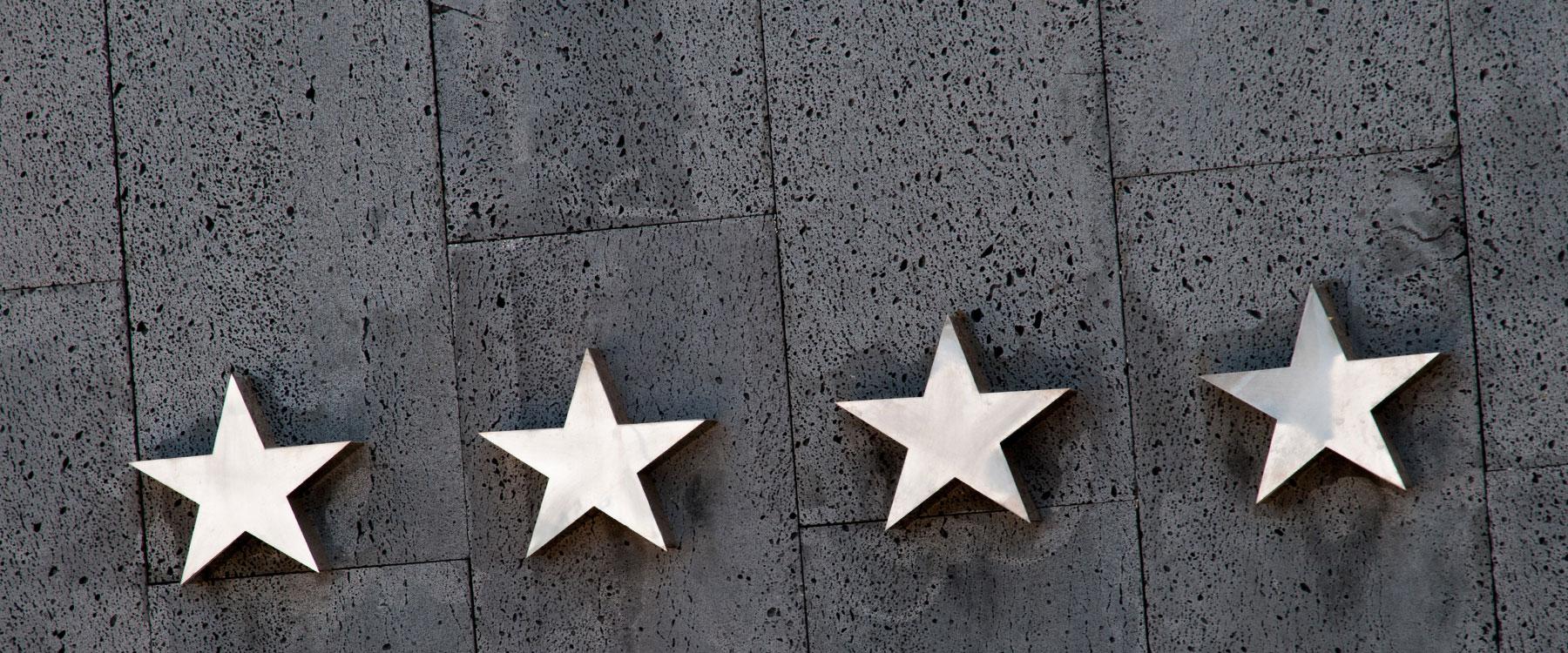 Online-Bewertungen, Sterne