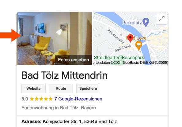 Bilder in Google My Business